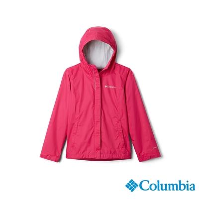 Columbia 哥倫比亞 童款- Omni-TECH 防水外套 - 桃紅 URG21220FC
