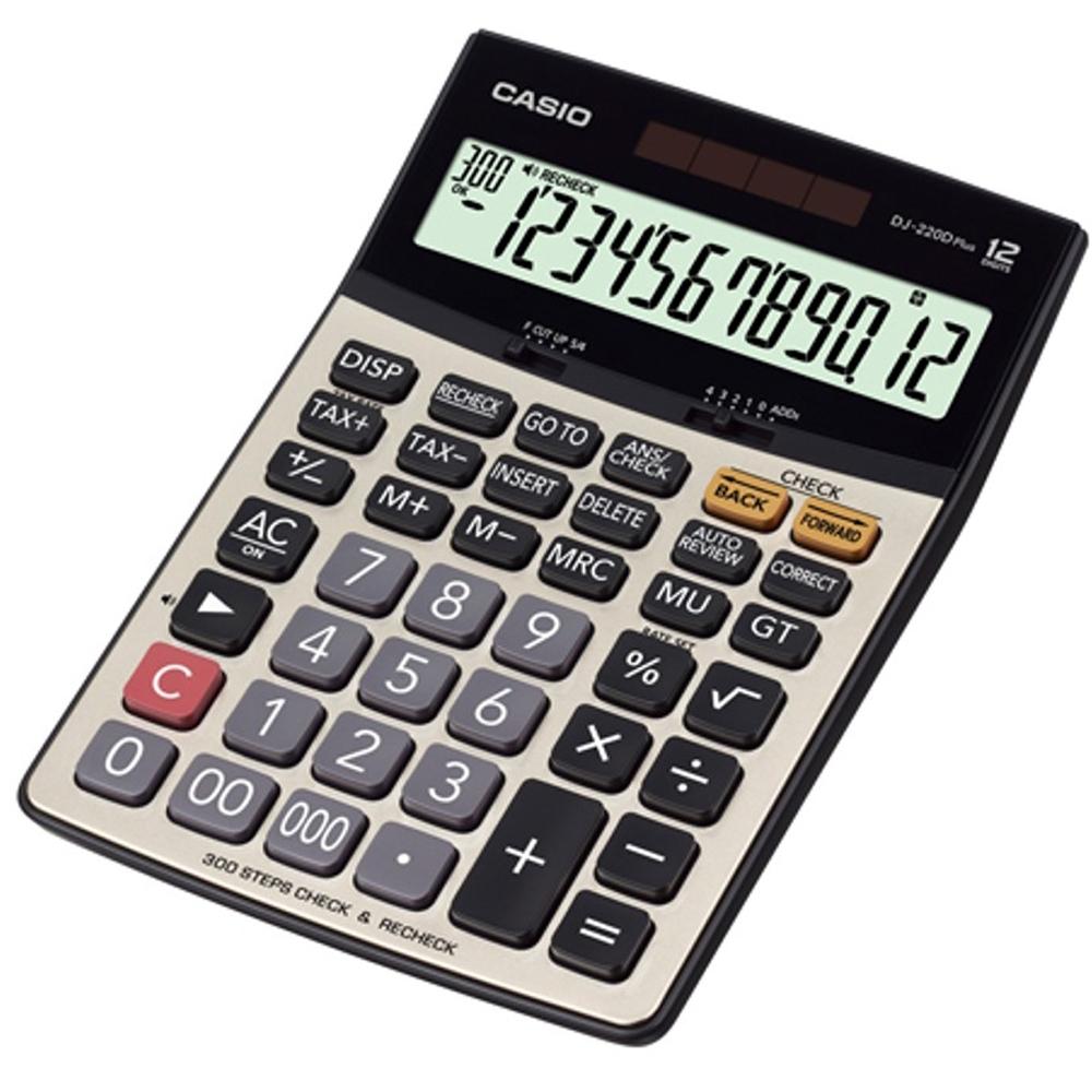 CASIO 12位元 桌上檢視步驟記憶型商用計算機(DJ-220DPLUS)