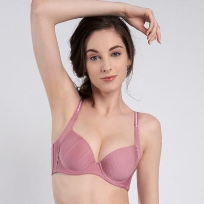 黛安芬-風格自在系列 涼感無痕透氣軟鋼圈 B-E罩杯內衣 粉藕色