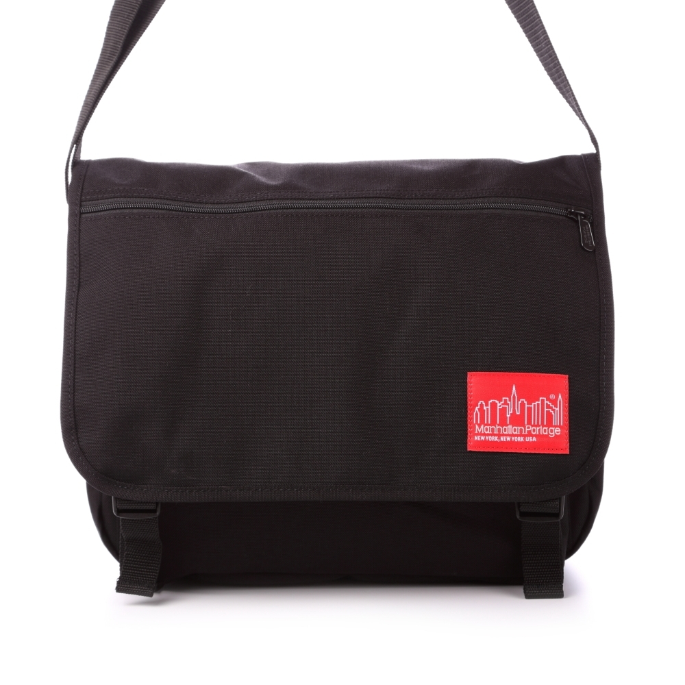 美國Manhattan Portage。擴充式肩背包 (M)MP1439ZC-BLK(黑)