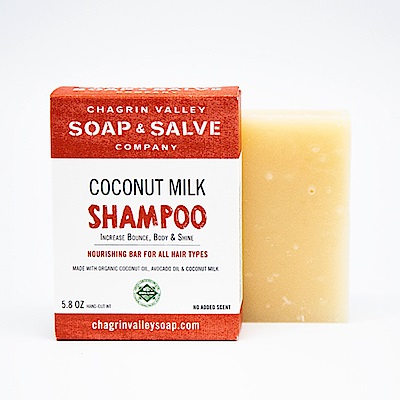 美國Chagrin Valley 有機天然椰奶深層滋養調理洗髮手工皂 5.8 OZ