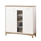 文創集 曼特爾 現代4尺二門單抽鞋櫃/玄關櫃-120x32x120cm免組