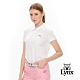 【Lynx Golf】女款經典配色Logo繡字短袖POLO衫-白色 product thumbnail 2