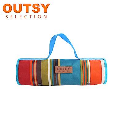 【OUTSY嚴選】限量款輕量條紋野餐墊 胡桃鉗進行曲