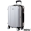 Starke 旅人系列 22吋TSA海關鎖拉鏈行李登機箱 -銀色
