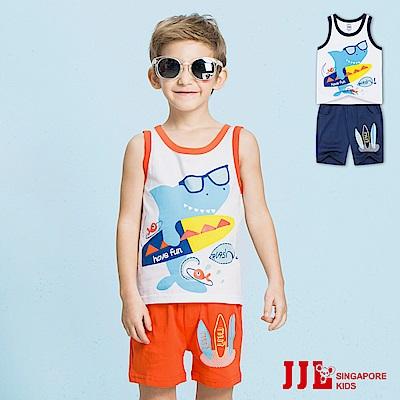 JJLKIDS 衝浪鯊魚純棉套裝(2色)