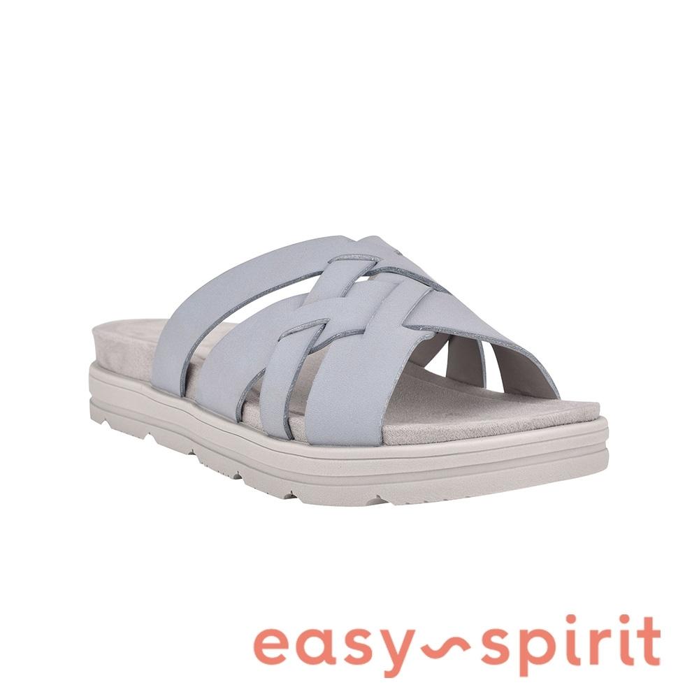 Easy Spirit-seSTAR5 編織厚底休閒拖鞋-淺藍