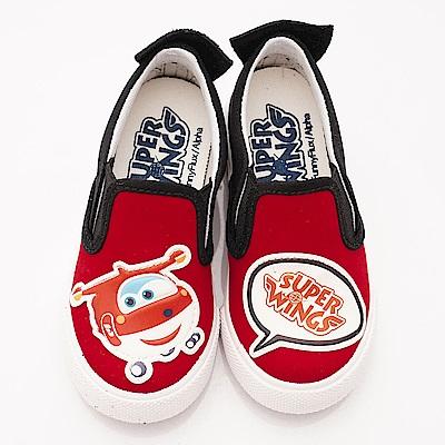 SUPER WINGS 不對稱休閒帆布鞋款 EI3660紅(中小童段)