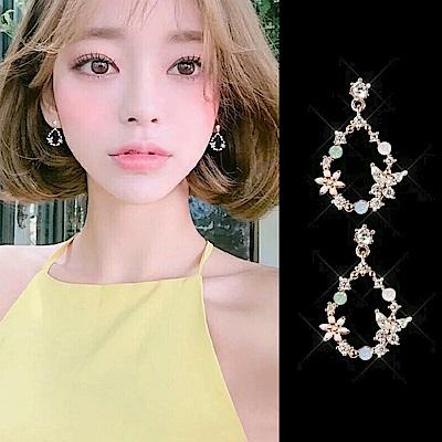 梨花HaNA 韓國少女心噴發水滴花園甜美耳環