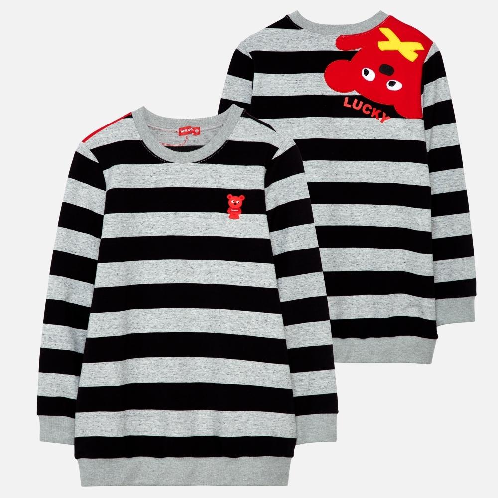 WHY AND 1/2 條紋棉質萊卡長版T恤-親子裝媽媽