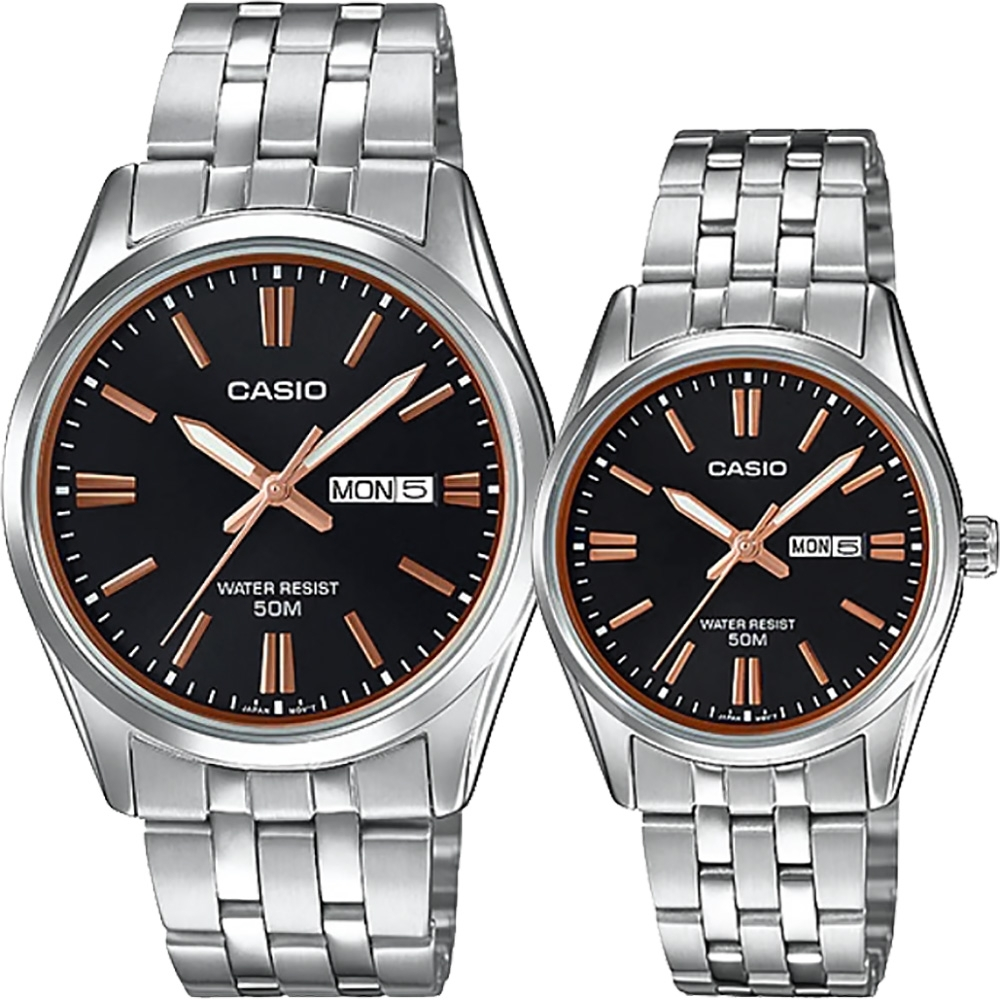 CASIO 卡西歐 情侶手錶對錶MTP-1335D-1A2V+LTP-1335D-1A2V
