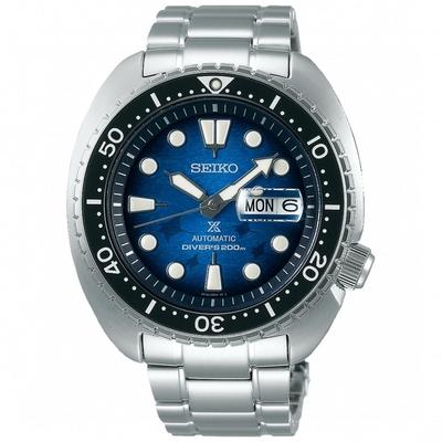 SEIKO精工 Prospex 愛海洋魟魚機械潛水錶 4R36-06Z0U(SRPE39J1)-藍/45mm