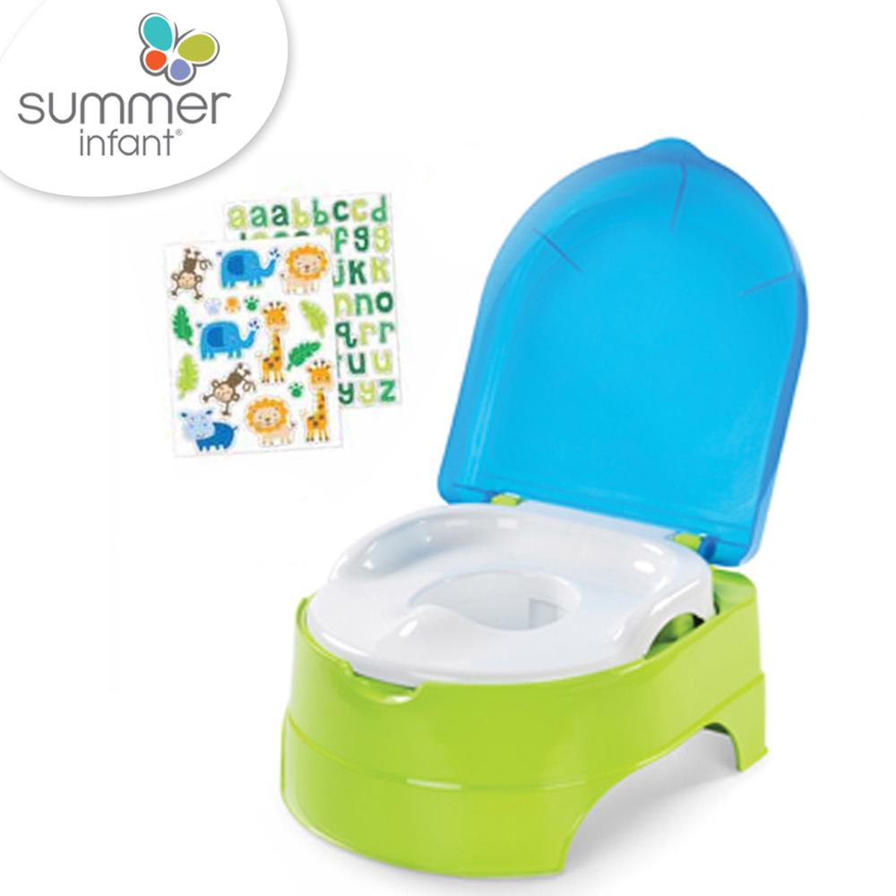 美國 Summer Infant 3合1兒童馬桶練習組 - 藍綠 @ Y!購物