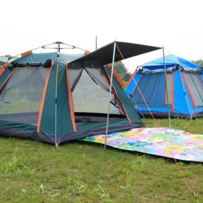 PUSH!戶外休閒登山用品自動速開沙灘露營4人四季四面專業型帳篷P134