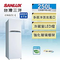 SANLUX台灣三洋 250L 1級定頻2門電冰箱 SR-C250B1