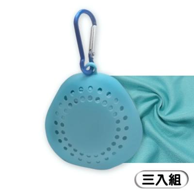 品菲特PINFIS 便攜涼感巾 運動毛巾 冰涼巾(附透氣收納掛勾) --3入組