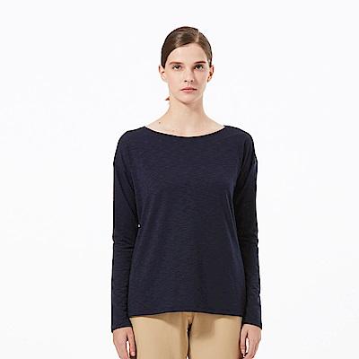 【HAKERS 哈克士】女 抗UV快乾條紋長袖衫-丈青