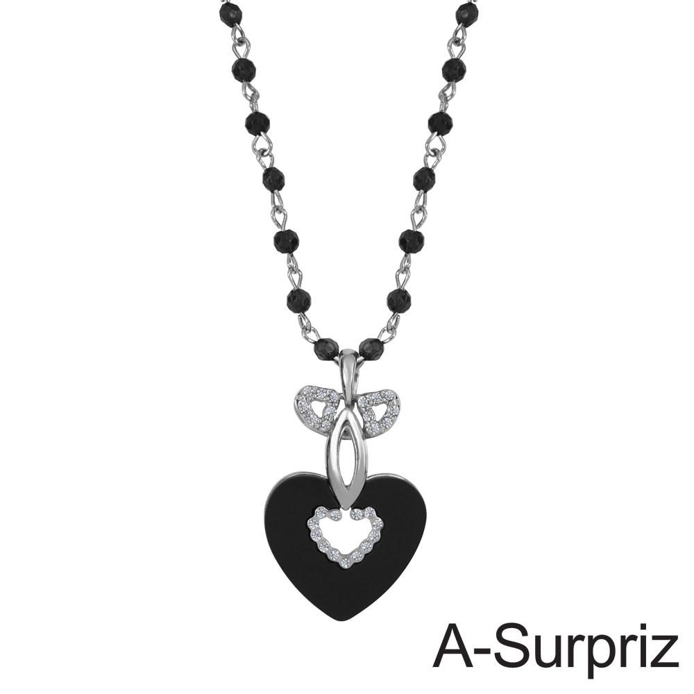 A-Surpriz 心動戀曲晶鑽串珠項鍊