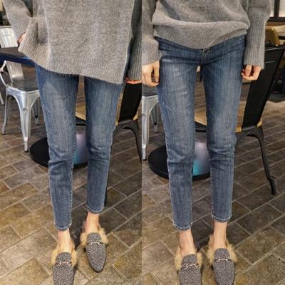 潮玩百搭超彈性伸縮顯瘦窄管牛仔褲XL-5XL-KVOLL