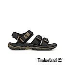 Timberland 男款黑色舒適戶外魔鬼氈涼鞋|A1ZT2