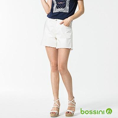 bossini女裝-休閒素色短褲02灰白