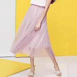 素色紗裙 共三色 TATA