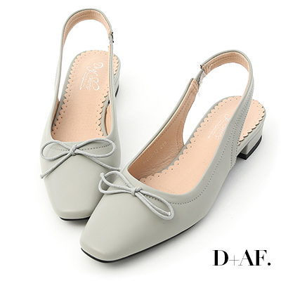 D+AF 輕甜風格.小方頭後空芭蕾娃娃鞋*綠