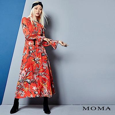 MOMA 花卉雪紡長洋裝