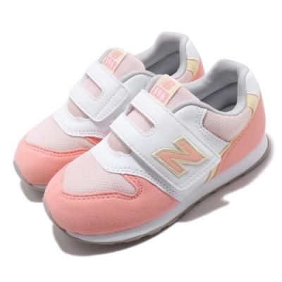 New Balance 休閒鞋 寬楦 運動 童鞋 紐巴倫 基本款 簡約 舒適 魔鬼氈 橘 黃 IZ996PPYW