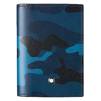 萬寶龍Sartorial名片夾-迷彩藍