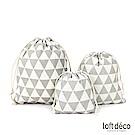 Loft Deco   Gray triangle   束口袋三件套