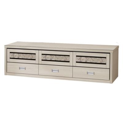 文創集 戈壁簡約5.9尺三門三抽電視櫃/視聽櫃-177.8x45.5x50.9cm免組