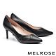 高跟鞋 MELROSE 經典俐落純色皺褶羊皮尖頭高跟鞋-黑 product thumbnail 1