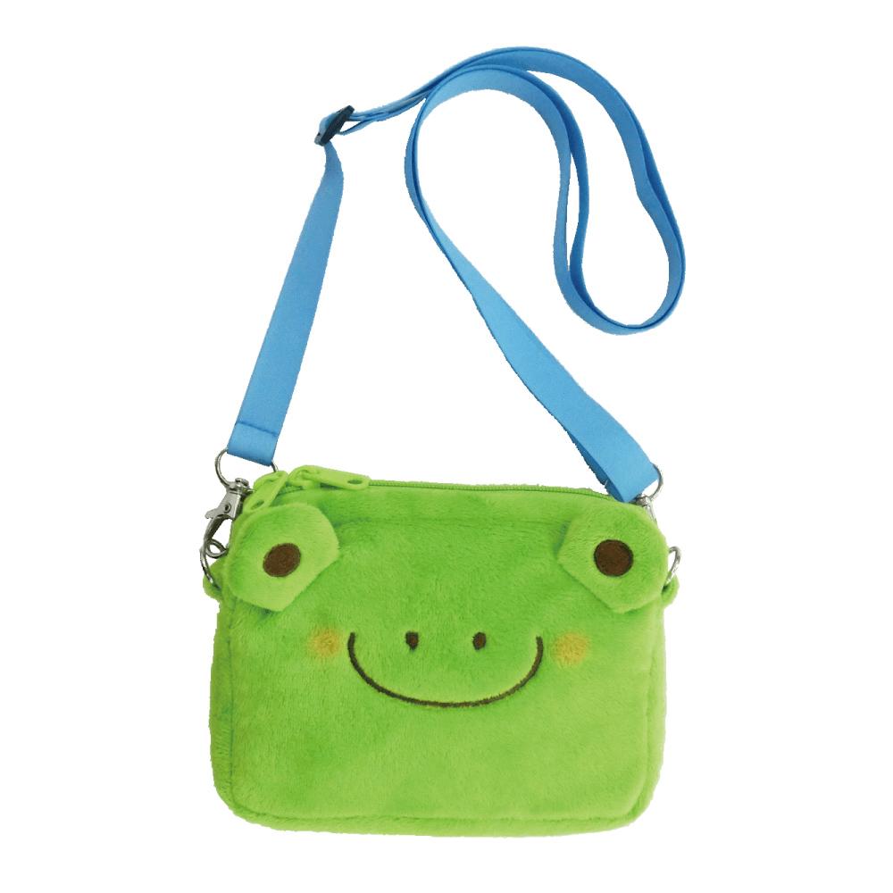 動物樂園側背收納袋。小蛙君 UNIQUE