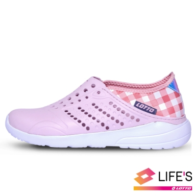 LOTTO 義大利 女 粉彩洞洞鞋(粉)