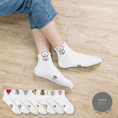 阿華有事嗎 韓國襪子 阿米最愛立體耳朵中短襪 韓妞必備短襪 正韓百搭卡通襪