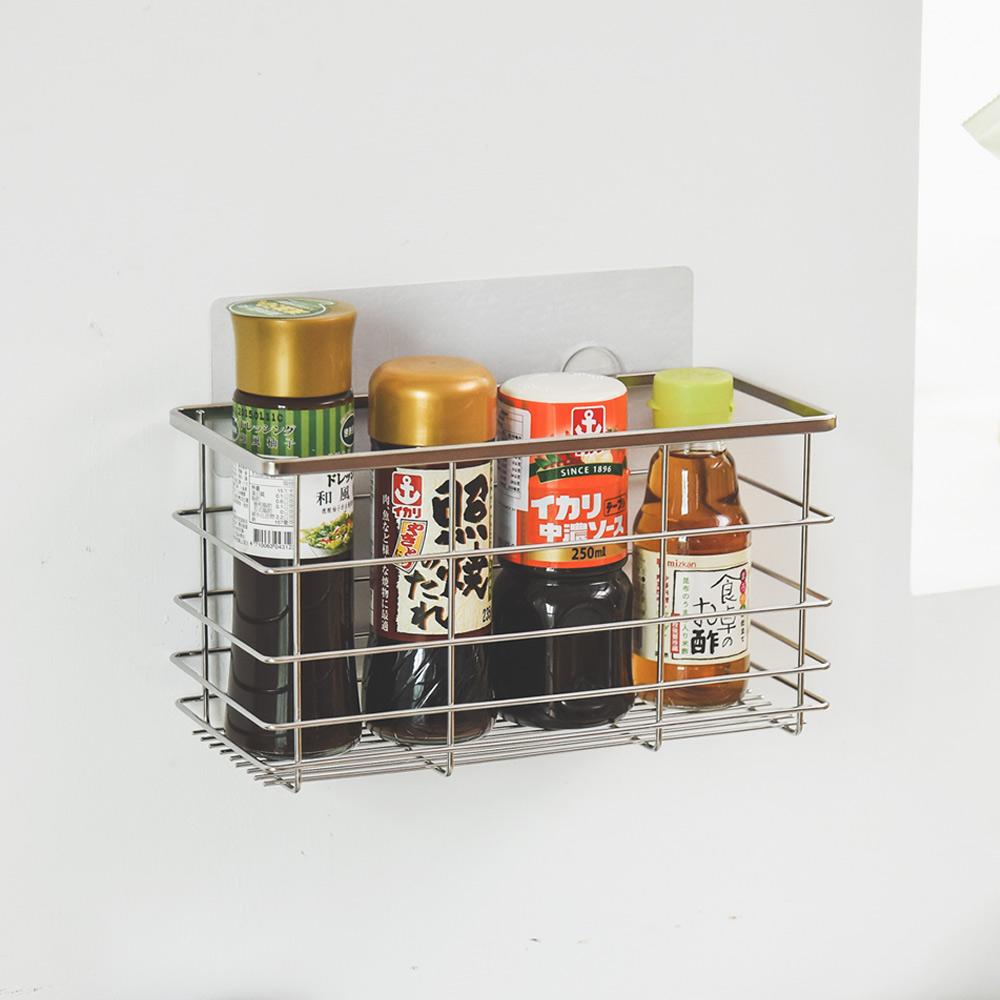 完美主義 瓶罐架/扁鐵/304不鏽鋼/霧面無痕貼