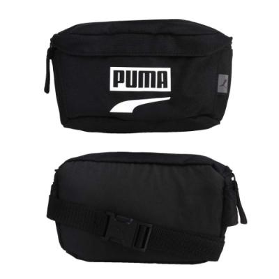 PUMA PLUS腰包-臀包 斜背包 側背包 反光 慢跑 自行車 07575114 黑白