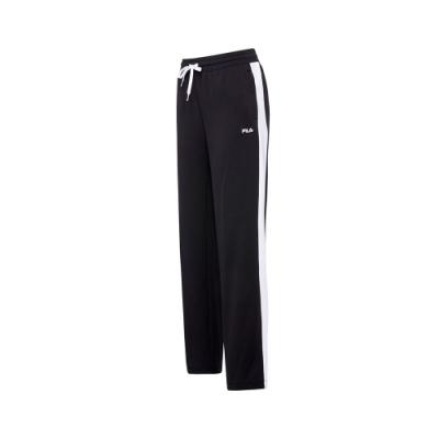 FILA 女吸濕排汗長褲-黑色 5PNT-5459-BK