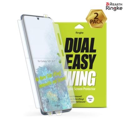 【Ringke】Galaxy S20 [Dual Easy Wing]易安裝側邊滿版螢幕保護貼-2入