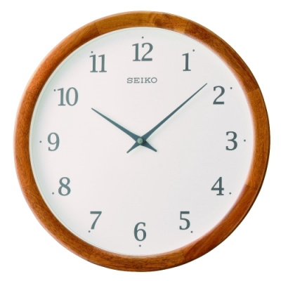 SEIKO 日本精工 木質外殼 掛鐘 時鐘(QXA763B)35.6cm