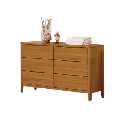 H&D 米堤柚木色4尺六斗櫃