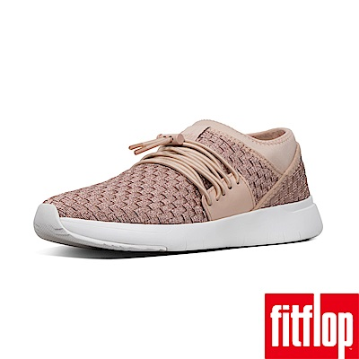 FitFlop STRIPKNIT LACE UP SNEAKERS-玫瑰金