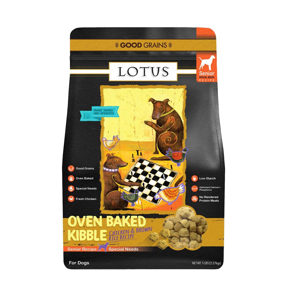LOTUS樂特斯 養生鮮雞佐沙丁魚-高齡/肥胖犬-5磅(中顆粒)
