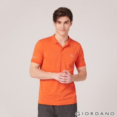 GIORDANO 男裝G-MOTION透氣排汗運動POLO衫-09 錦鯉橙