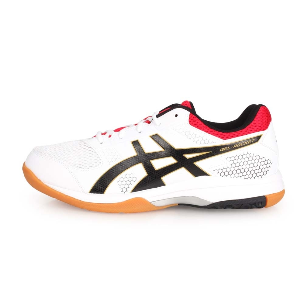 ASICS GEL-ROCKET 8 男排羽球鞋-排球 訓練 羽球 白紅黑