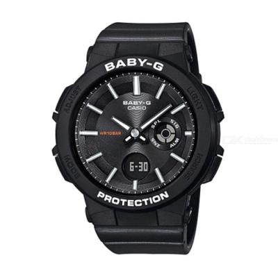 BABY-G-霓虹閃耀愛冒險女孩運動休閒錶-黑(BGA-255-1A)/45.1mm