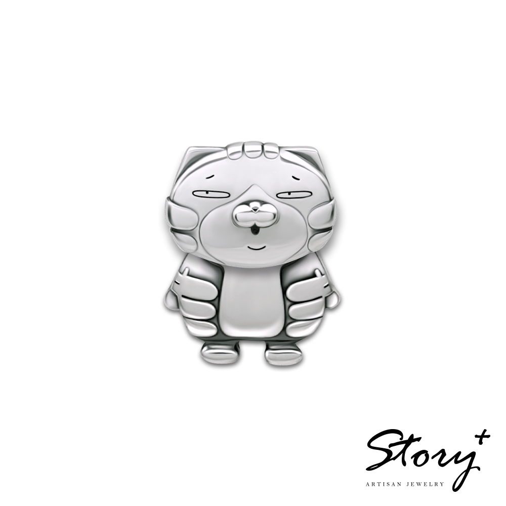 STORY故事銀飾-白爛貓經典系列-LanLan純銀單邊耳環