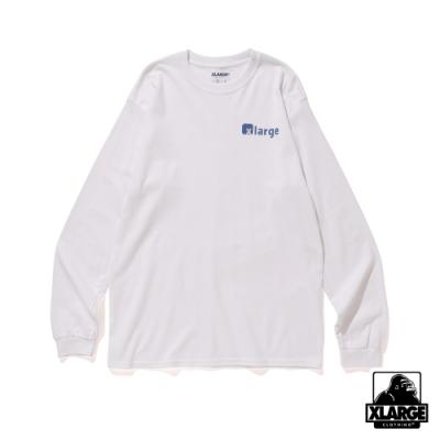 XLARGE L/S TEE CHAN長袖T恤-白