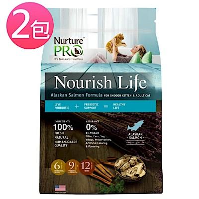 Nurture PRO天然密碼 阿拉斯加鮭魚室內小貓&成貓配方1.8kg*2包組+贈貓抓版